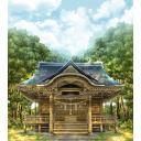 博麗神社(背景、光あり)