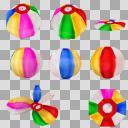 紙風船(3D・CG)