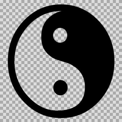 陰陽玉【図形シルエット】 - ニ...