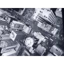 海外の街並み 俯瞰 白黒