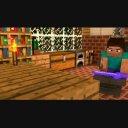 【Minecraft】テキストなしVer/金床叩くスティーブ シーンの間などに。
