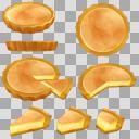 チーズタルト(3D・CG)