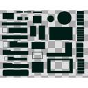 セリフ枠詰め合わせセット・新品メタルフレーム黒板