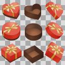 バレンタイン 箱セット 赤B