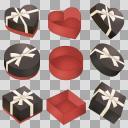 バレンタイン 箱セット  黒A