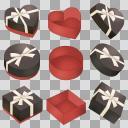 バレンタイン 箱セット  黒B