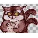 立ち絵「紅茶猫」原寸大