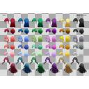 TRPG用SDキャラ素材集「あばれーた2」-03(髪型シート01)
