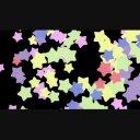 カラフルな星のワイプ