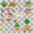 スイカ(3D・CG)