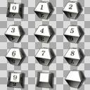 10面サイコロの立体画像詰め合わせ 【白色】