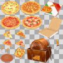 ピザセット(3D・CG)