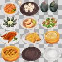 中華料理セット(3D・CG)