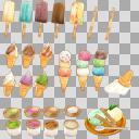 アイスセット(3D・CG)