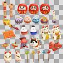 民芸品セット(3D・CG)