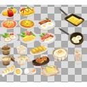 たまご料理セット(3D・CG)