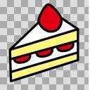 【素材】ショートケーキ