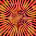 集中線(イメージ星の爆発)