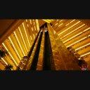 エレベーター ショッピング センター ゴールド 黄色 ショップ 光 速度