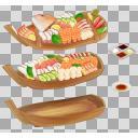 舟盛り(3D・CG)