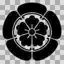 織田信長の家紋7種の一つ、代表的な「木瓜紋(もっこうもん)」