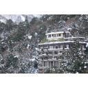 雪山のホテル