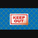 金網(フェンス)ゲートが閉まるアニメーション