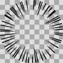 【手描き】集中線/効果線 透過合成用にどうぞ(1000px*1000px)