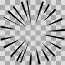 【手描き】集中線/効果線 透過合成用にどうぞ(1000px*1000px)2