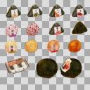 コンビニおにぎりセット(3D・CG)