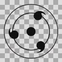 写輪眼コンタクト 透過合成用