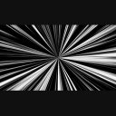 シンプルな集中線
