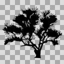 盆栽【図形シルエット】