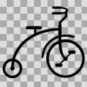 三輪車【図形シルエット】