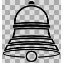 ベル(黒8-1)(PNG)