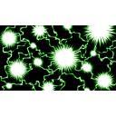 【1280×720☆背景素材】グリーンの稲妻フラッシュの背景