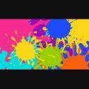 【1280×720☆動画素材】カラフルなペンキのシーンチェンジ