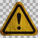 【汚れた標識】!(注意・警告)01-2【アイコン】