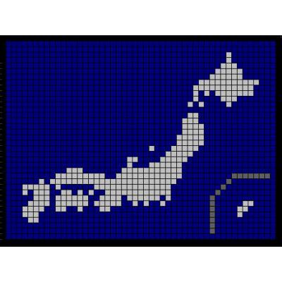 マス目日本地図