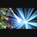 クリスマスツリーと光&雪パーティクル<HD>①