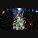 クリスマスツリーと光&雪のパーティクル<HD>②