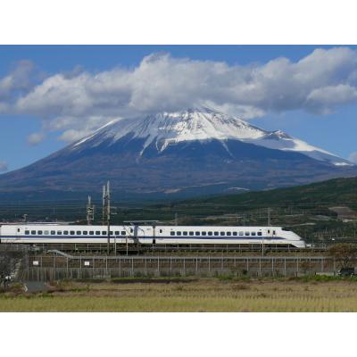 富士山と300系新幹線