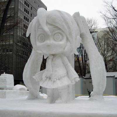 第61回雪まつり 初音ミク雪像