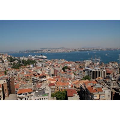 トルコ イスタンブール ガラタ塔から見たボスポラス海峡方面