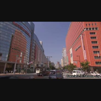 渡辺通りの商業施設群