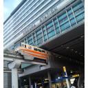 小倉駅にて。北九州高速鉄道1000形電車