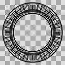 円鍵盤(内向き)