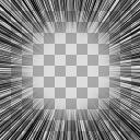 集中線HD(1400px × 1400px)PNG透過