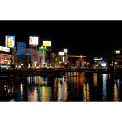 福岡・中洲のネオン街
