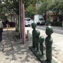 桜新町駅前にあるサザエさん像
